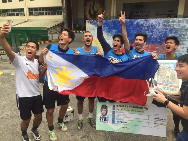 Daniel Matsunaga of Team Naxional win the Red Bull Neymar Jr 5 Philippine Championship