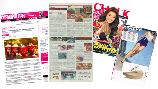 public relations newspapers & magazine clippings